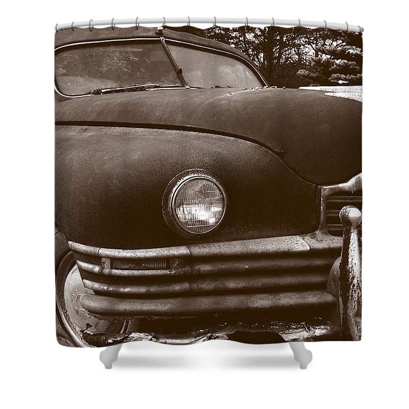 Old Car Shower Curtain featuring the photograph Chocolate Moose by Jean Macaluso