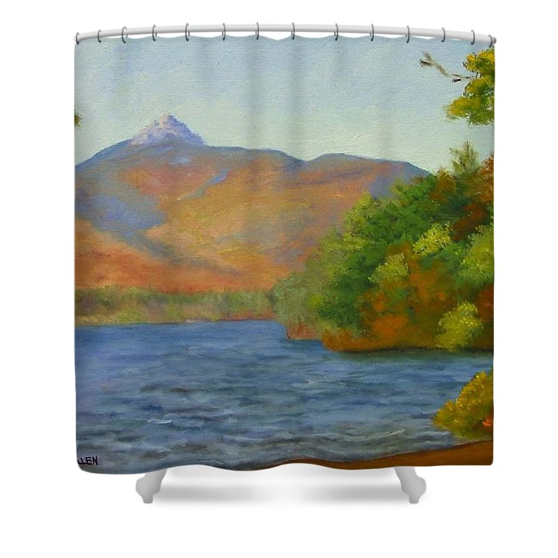 Mount Chocorua And Chocorua Lake Shower Curtain featuring the painting Chocorua by Sharon E Allen