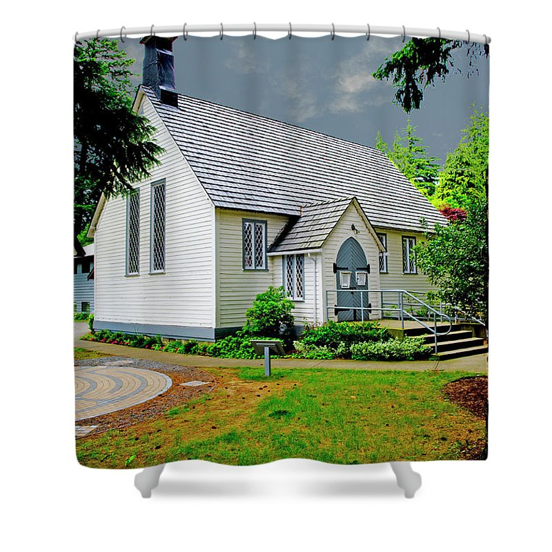Beautiful Bc Shower Curtain featuring the photograph Christ Church by Rod Wiens