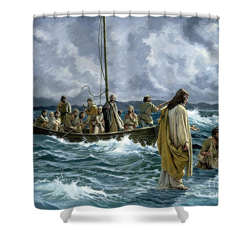 Life Of Christ Shower Curtains