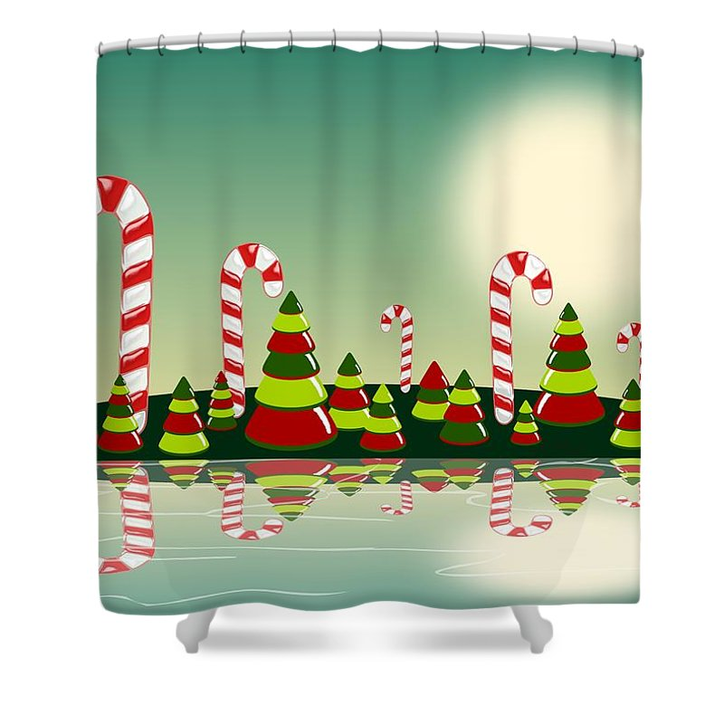Christmas Candy Island Shower Curtain For Sale By Anastasiya Malakhova