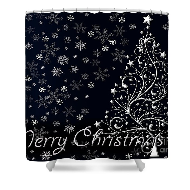 Christmas Shower Curtain featuring the photograph Christmas Card 10 by Nina Ficur Feenan