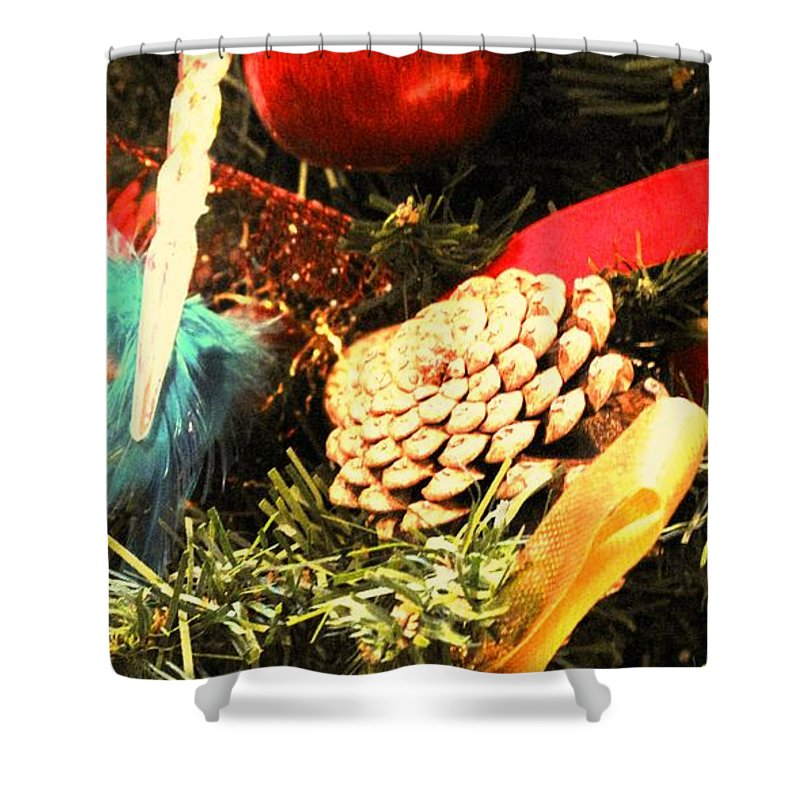Christmas Shower Curtain featuring the photograph Christmas Decorations by Ian MacDonald
