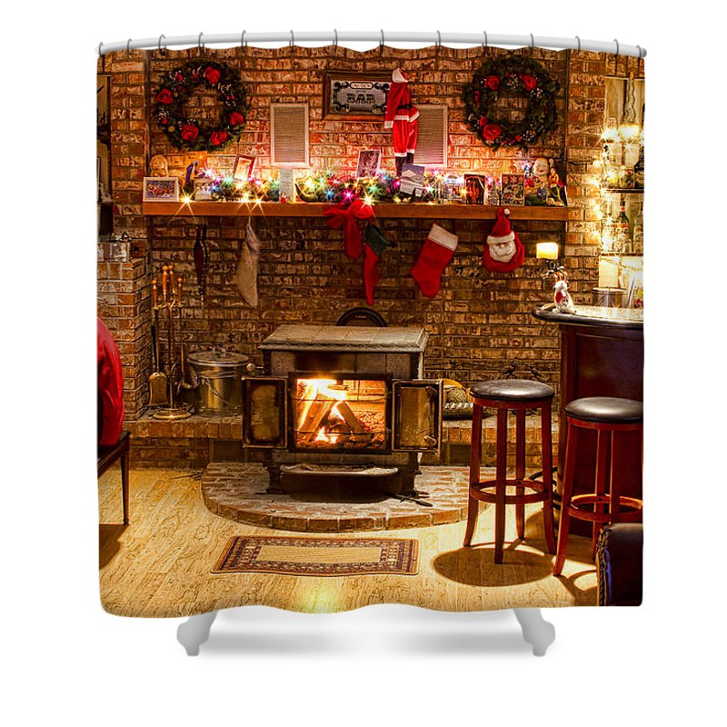 Christmas Shower Curtain featuring the photograph Christmas Eve by James BO Insogna