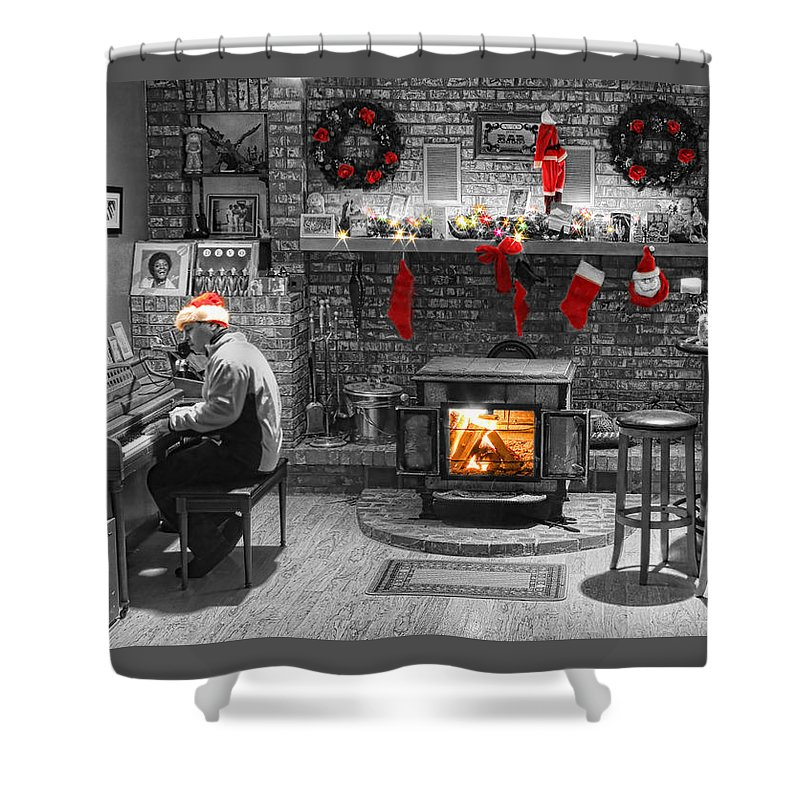 Christmas Shower Curtain featuring the photograph Christmas Eve Magic by James BO Insogna