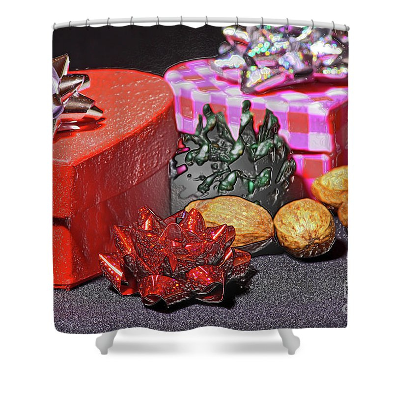 Christmas Gifts Shower Curtain featuring the photograph Christmas Gifts by Kevin Richardson