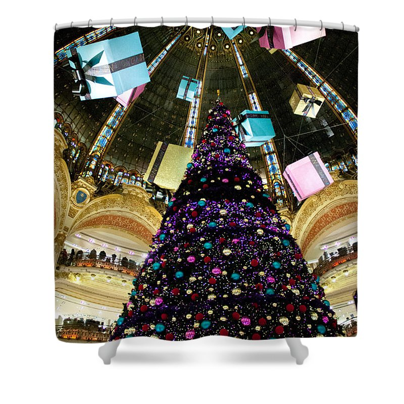 Christmas Shower Curtain featuring the photograph Christmas In Paris 2010 - #1 by Sophia Pagan