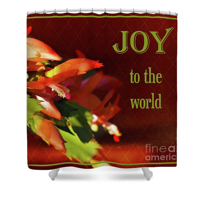Cactus Shower Curtain featuring the photograph Christmas Joy by Karen Beasley