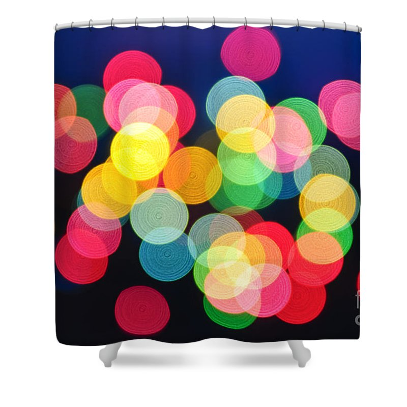 Blurred Shower Curtain featuring the photograph Christmas Lights Abstract by Elena Elisseeva