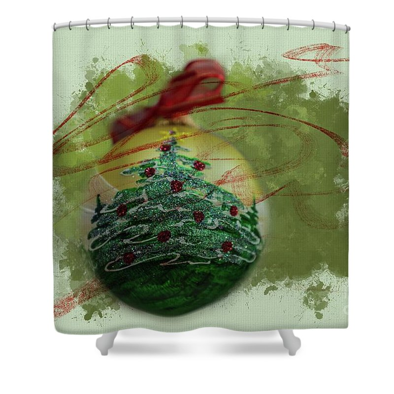 Christmas Decoration Shower Curtain featuring the photograph Christmas Magic by Eva Lechner