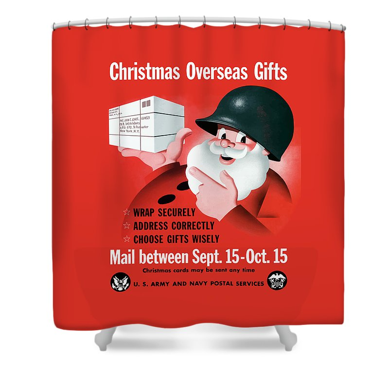 Ww2 Christmas Gifts.Christmas Overseas Gifts Ww2 Shower Curtain