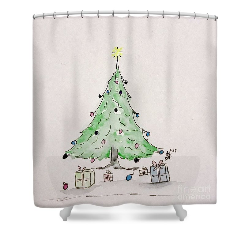 Christmas Shower Curtain featuring the painting Christmas Time by Gail Nandlal