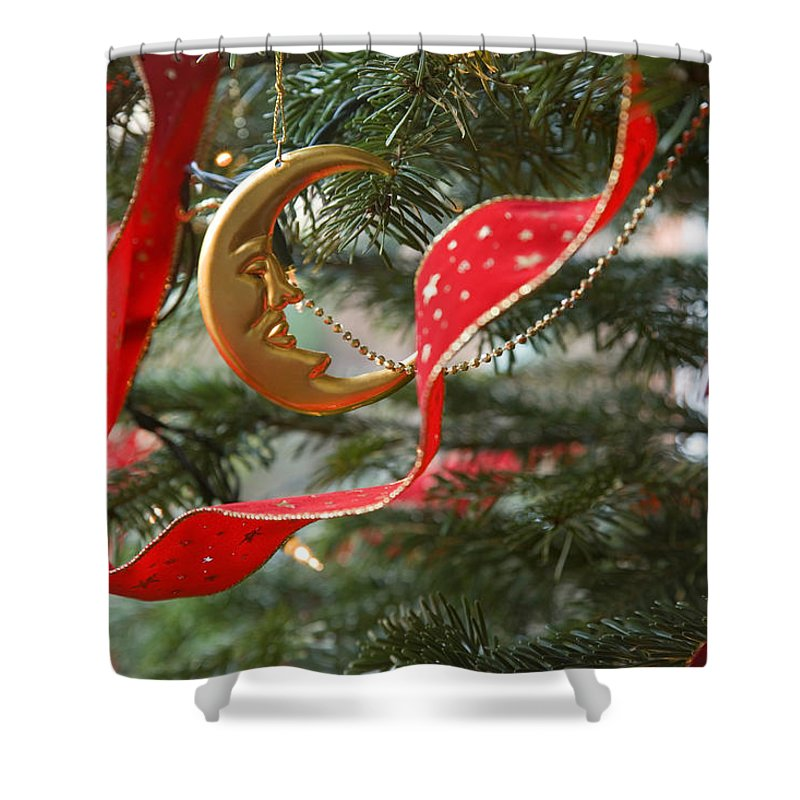Christmas Shower Curtain featuring the photograph Christmas Tree Decorations by Mal Bray