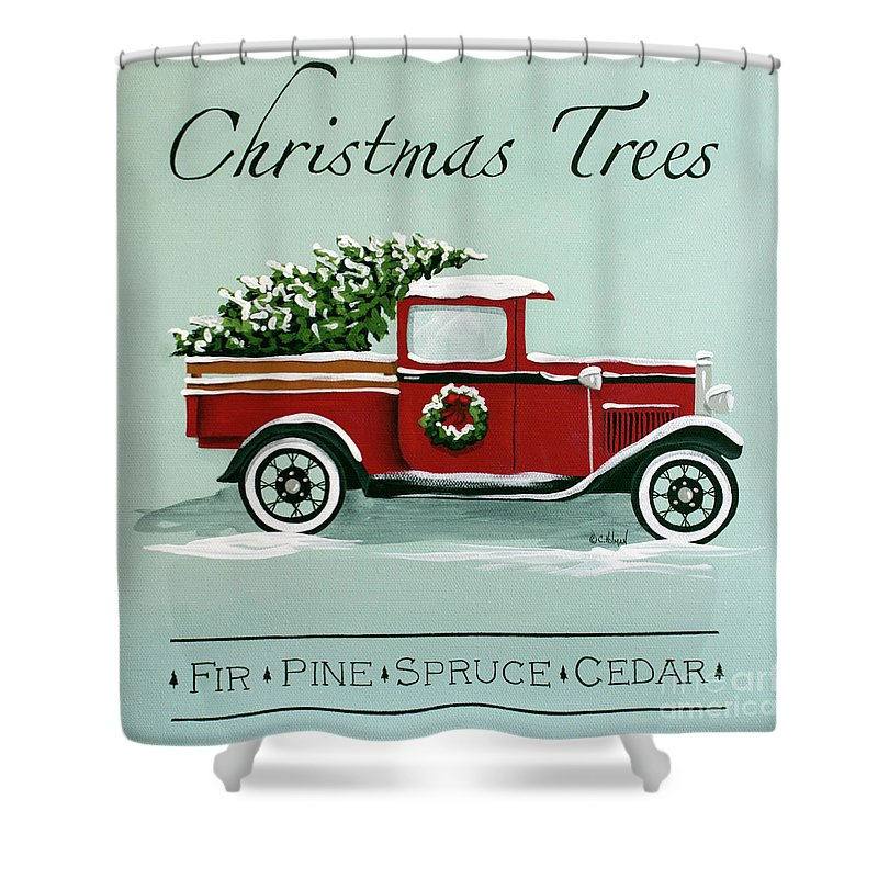 Christmas Tree Farm Sign Shower Curtain For Sale By Catherine Holman