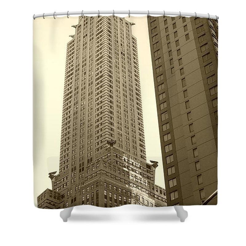 New York Shower Curtain featuring the photograph Chrysler Building by Debbi Granruth