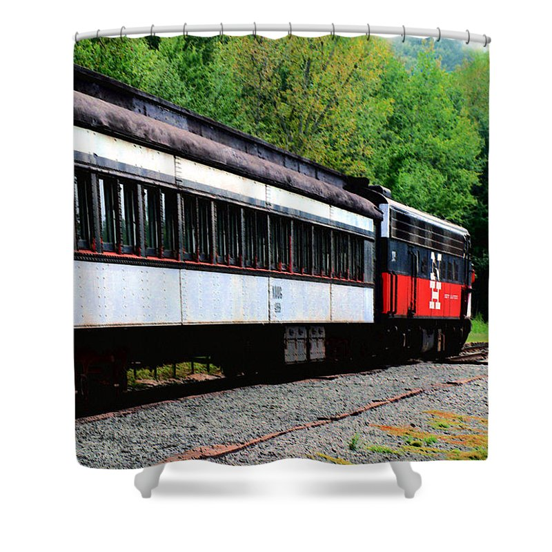 Train Shower Curtain featuring the photograph Chugging Along by RC DeWinter