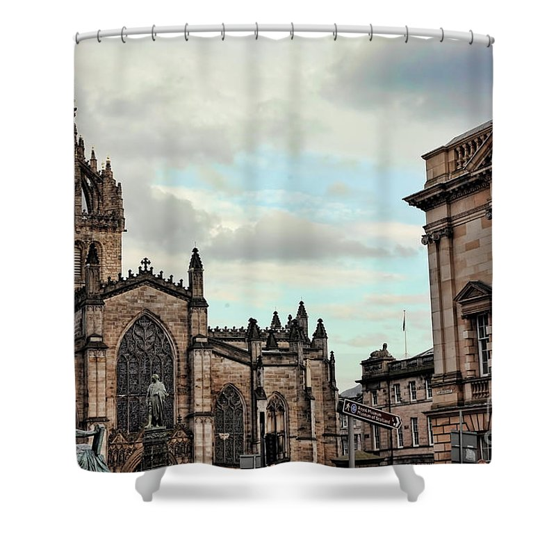 Scotland Shower Curtain featuring the photograph Church Edinburgh II by Chuck Kuhn