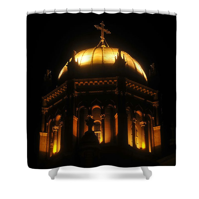 Flagler Memorial Shower Curtain featuring the photograph Church lights by David Lee Thompson