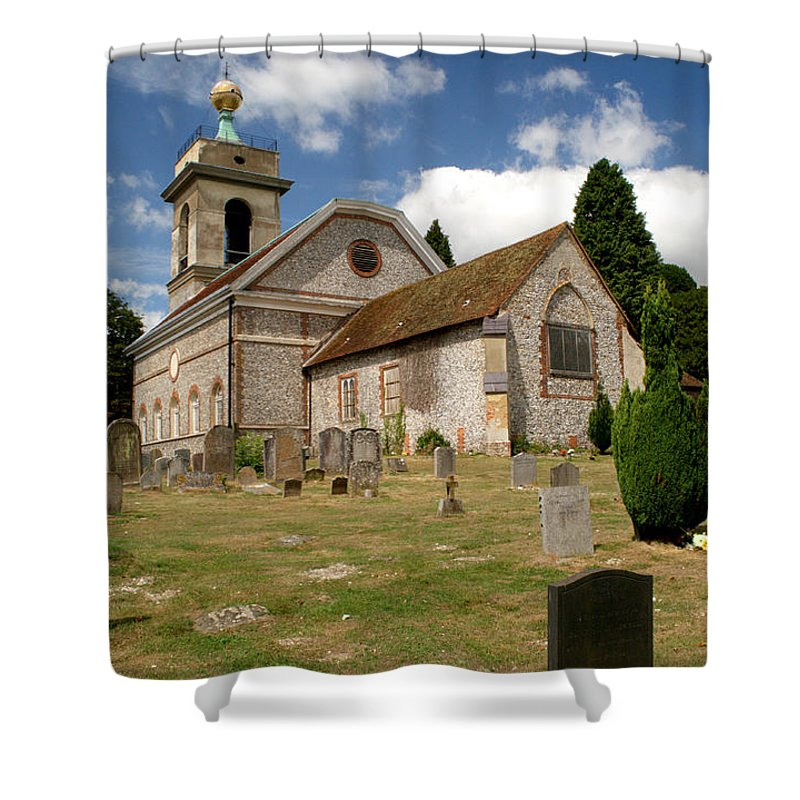 Church Shower Curtain featuring the photograph Church Of St. Lawrence West Wycombe 3 by Chris Day