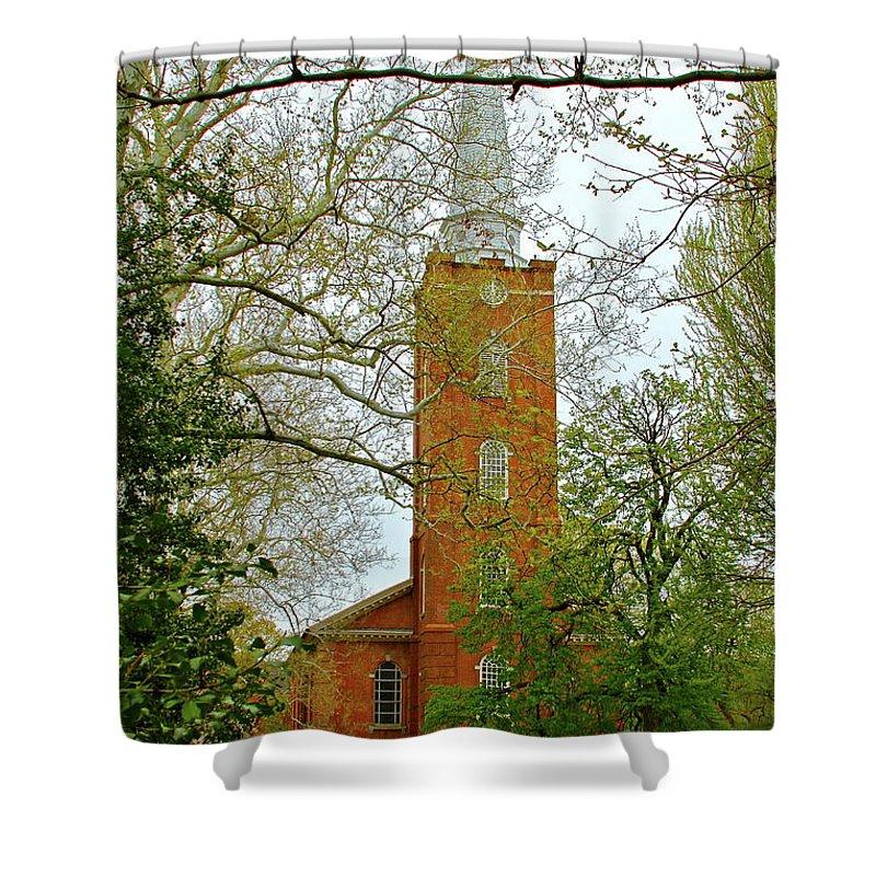 Church Shower Curtain featuring the photograph Church Yard by Rick Monyahan