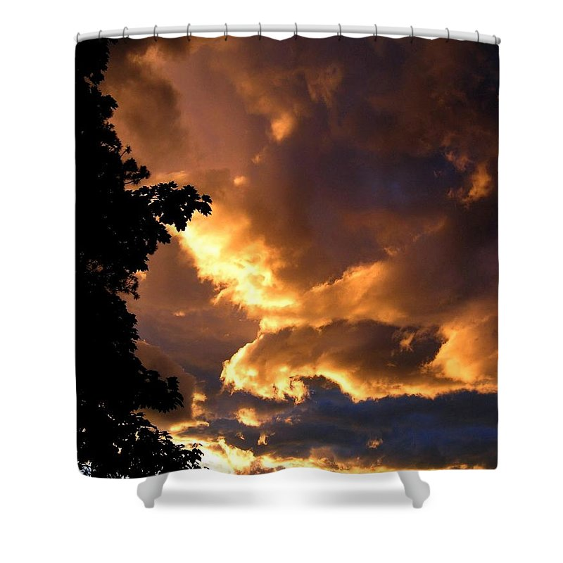 Sunset Shower Curtain featuring the photograph Churning Clouds 2 by Will Borden