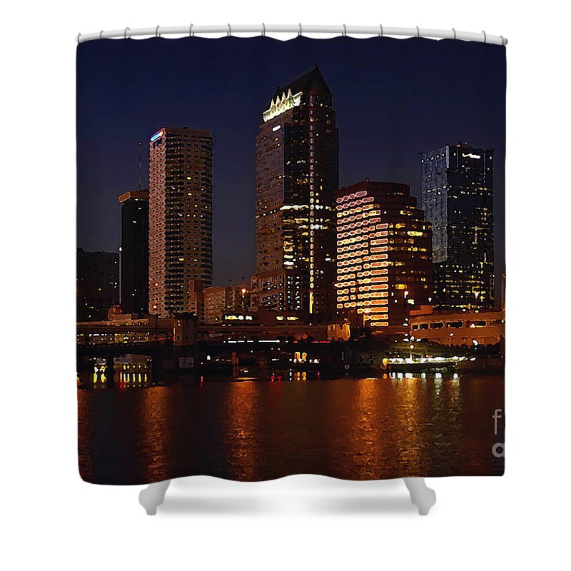 Tampa Florida Shower Curtain featuring the photograph Cigar City by David Lee Thompson