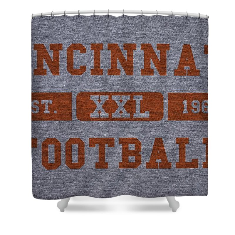 Bengals Shower Curtain featuring the photograph Cincinnati Bengals Retro Shirt by Joe Hamilton