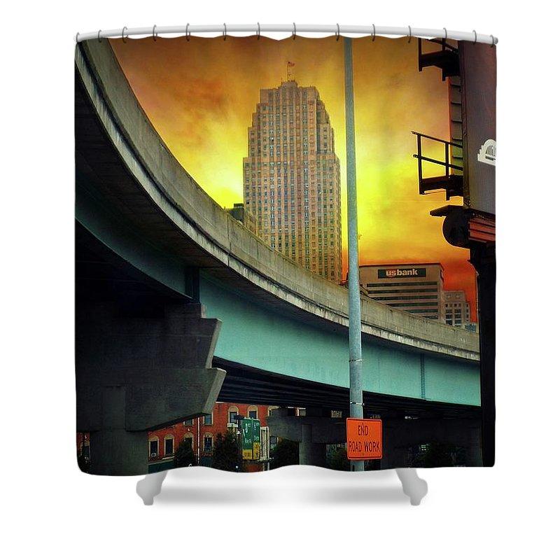 City Shower Curtain featuring the photograph Cincinnati by Jamie Holbrook