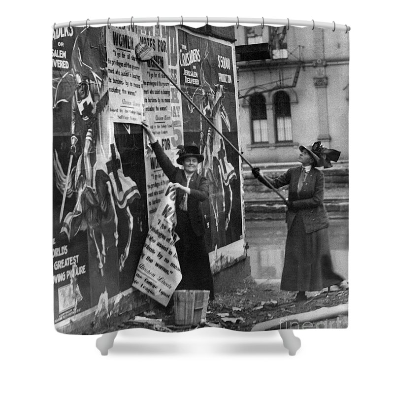 1912 Shower Curtain featuring the photograph Cincinnati: Suffragettes by Granger