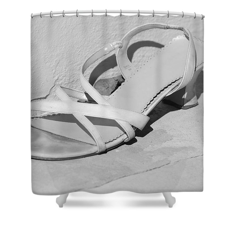 Pop Art Shower Curtain featuring the photograph Cindarella S Size 9 by Rob Hans