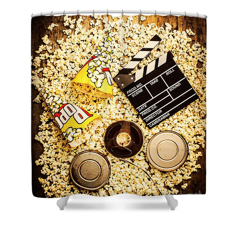 Cinema Of Entertainment Shower Curtain For Sale By Jorgo Photography