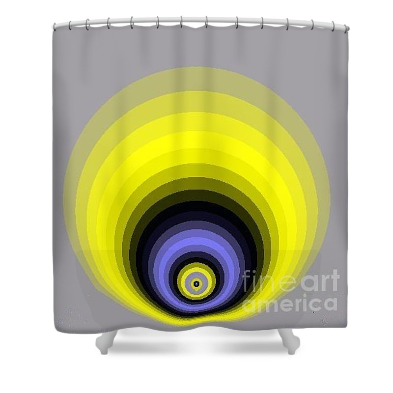 Digital Art Shower Curtain featuring the digital art Circle I by Dragica Micki Fortuna