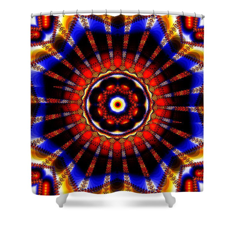 Clay Shower Curtain featuring the digital art Circus by Clayton Bruster