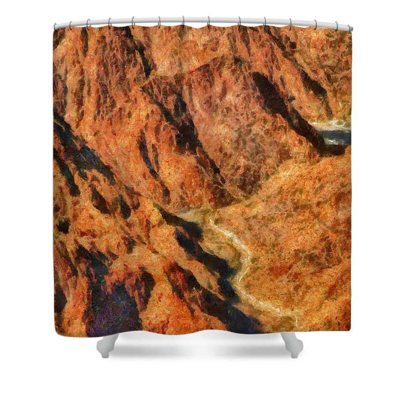 Savad Shower Curtain featuring the photograph City - Arizona - Grand Canyon - A Look Into The Abyss by Mike Savad