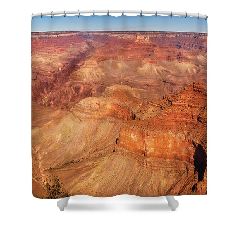 Grand Shower Curtain featuring the photograph City - Arizona - Grand Canyon - The Great Grand View by Mike Savad