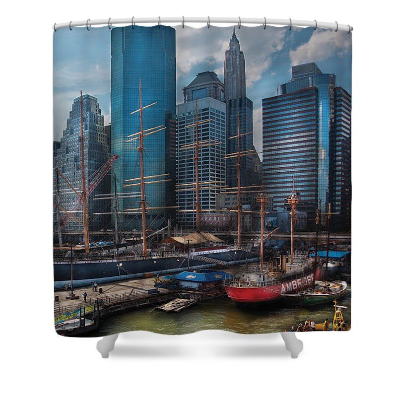 Savad Shower Curtain featuring the photograph City - Ny - The New City by Mike Savad
