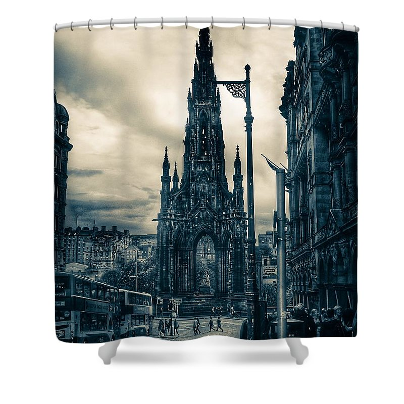 City Shower Curtain featuring the photograph Edinburgh City by Amelle Eley