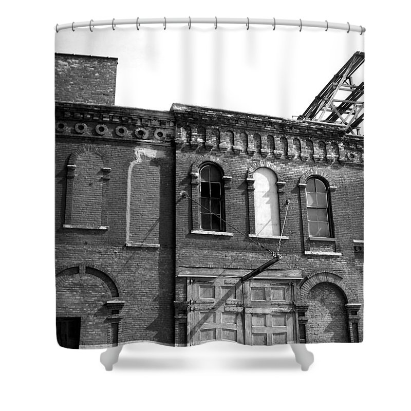 Milwaukee Shower Curtain featuring the photograph City Decay 1 by Anita Burgermeister