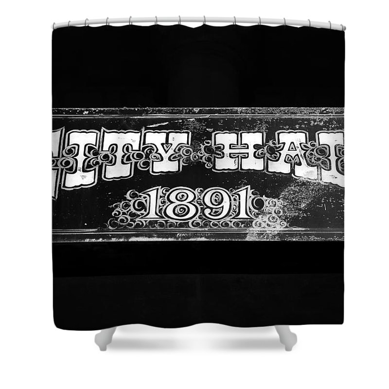 City Hall Shower Curtain featuring the photograph City Hall 1891 by David Lee Thompson