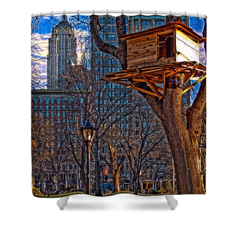 Hdr Shower Curtain featuring the photograph City Housing by Chris Lord
