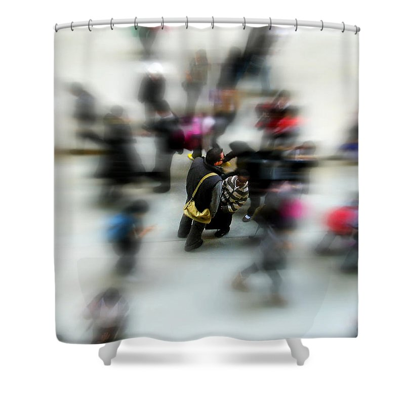 London Shower Curtain featuring the photograph City In Movement by Osvaldo Hamer