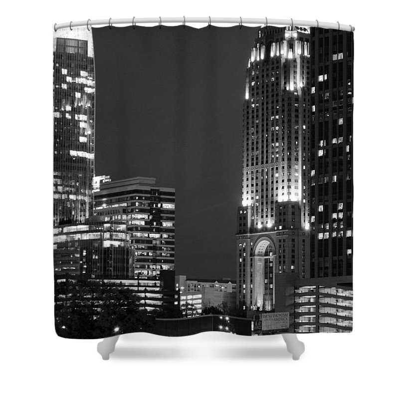 Buildings Shower Curtain featuring the photograph City Lights by Ayesha Lakes