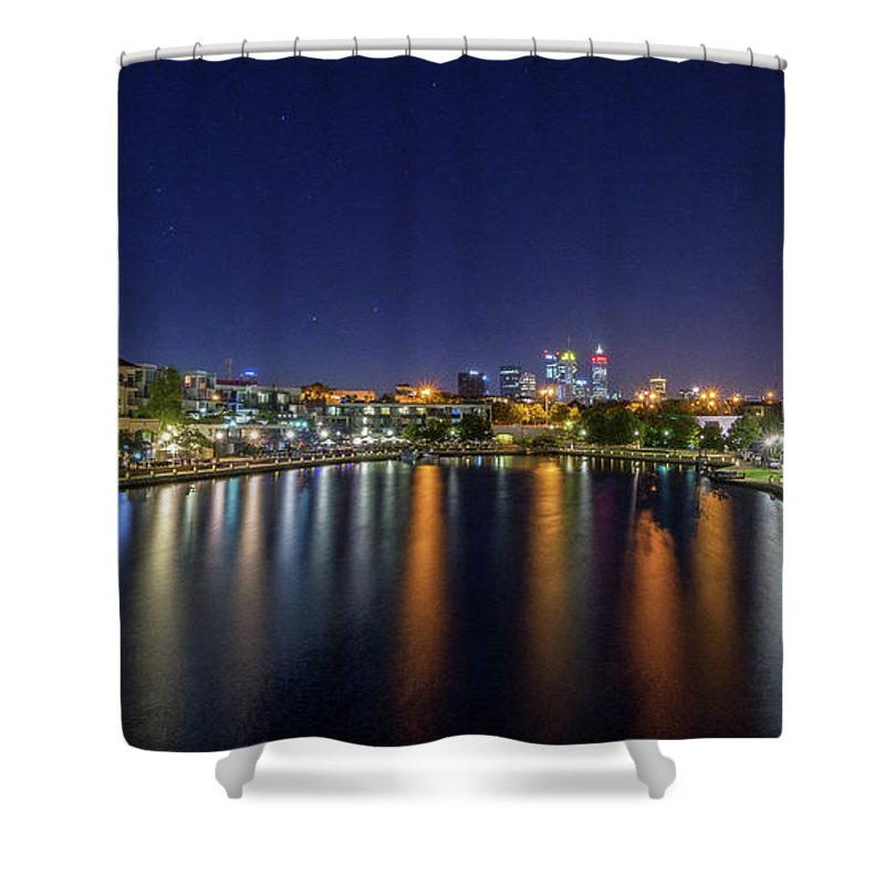 City Shower Curtain featuring the photograph City Lights by Sue Errington-Wood