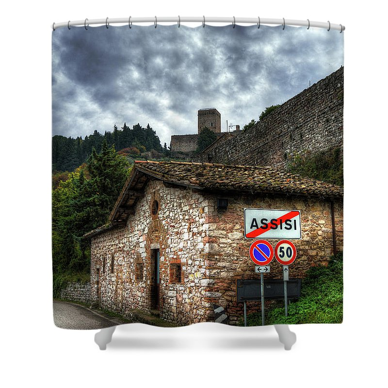 Sky Shower Curtain featuring the photograph City Limits by Darin Williams