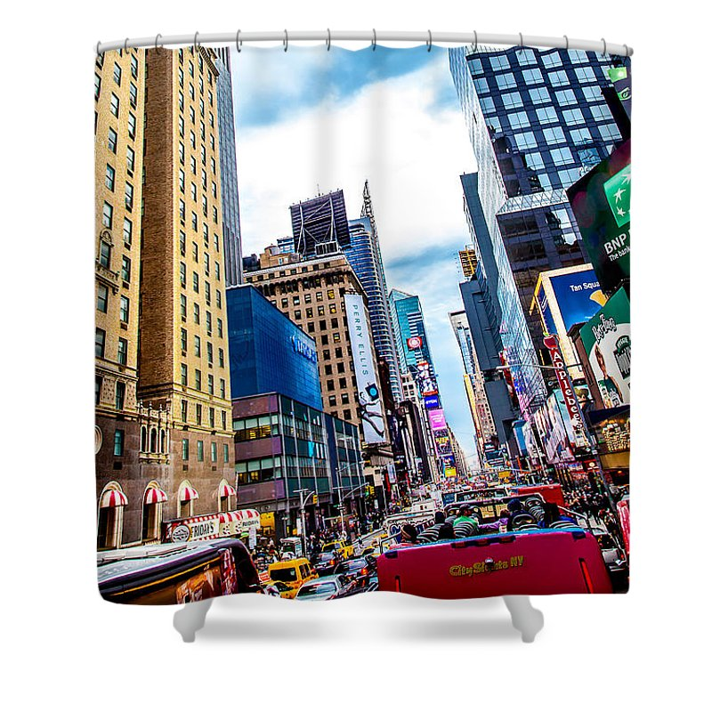 New York Shower Curtain featuring the photograph City Sights Nyc by Az Jackson