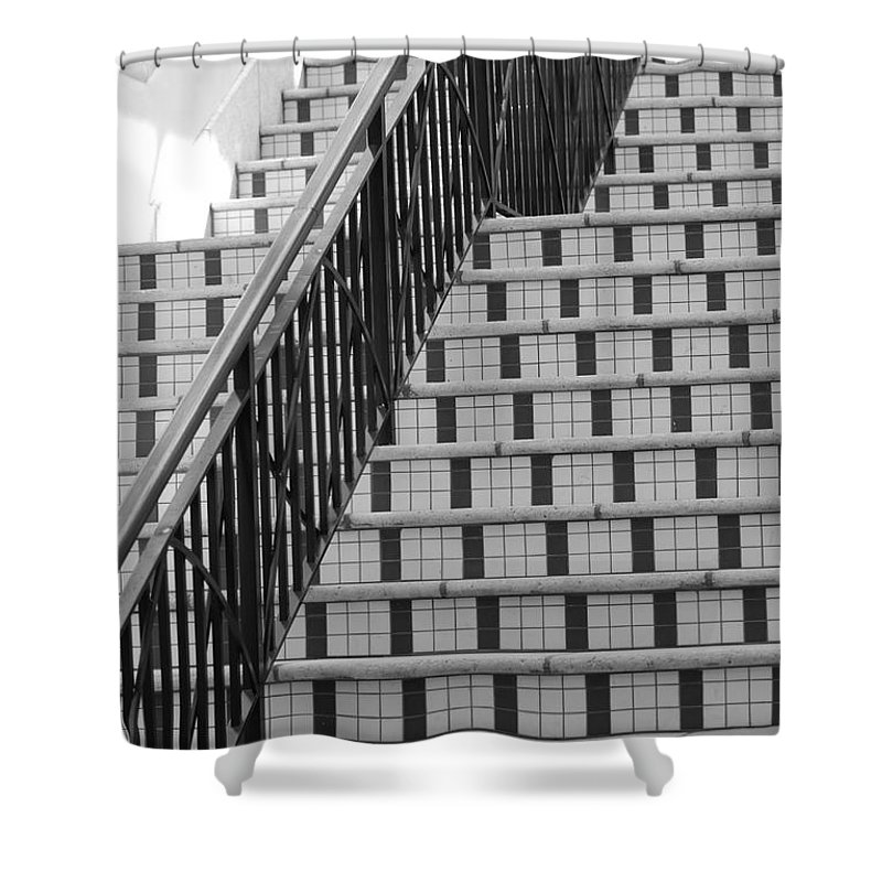 Architecture Shower Curtain featuring the photograph City Stairs II by Rob Hans