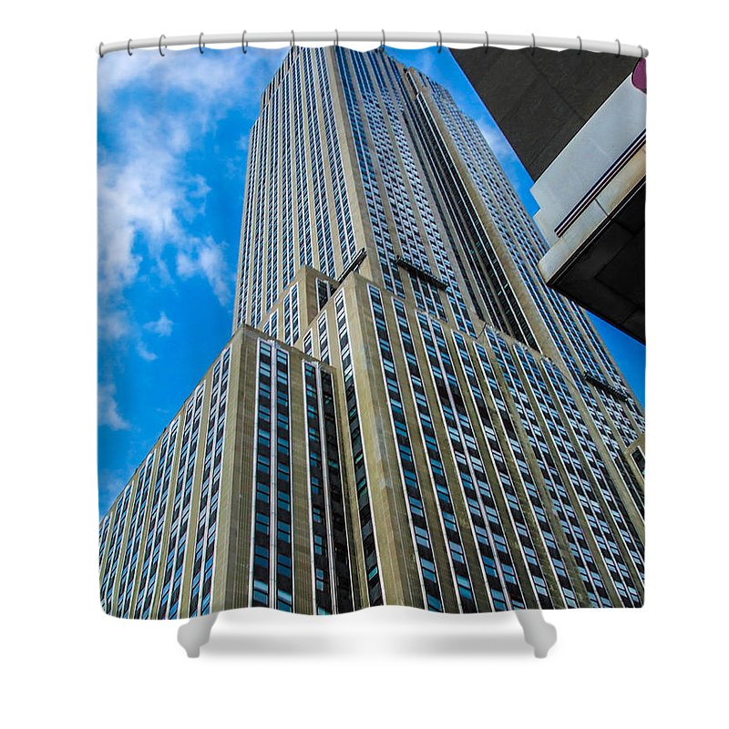 City Shower Curtain featuring the photograph City Tower by Gerald Kloss