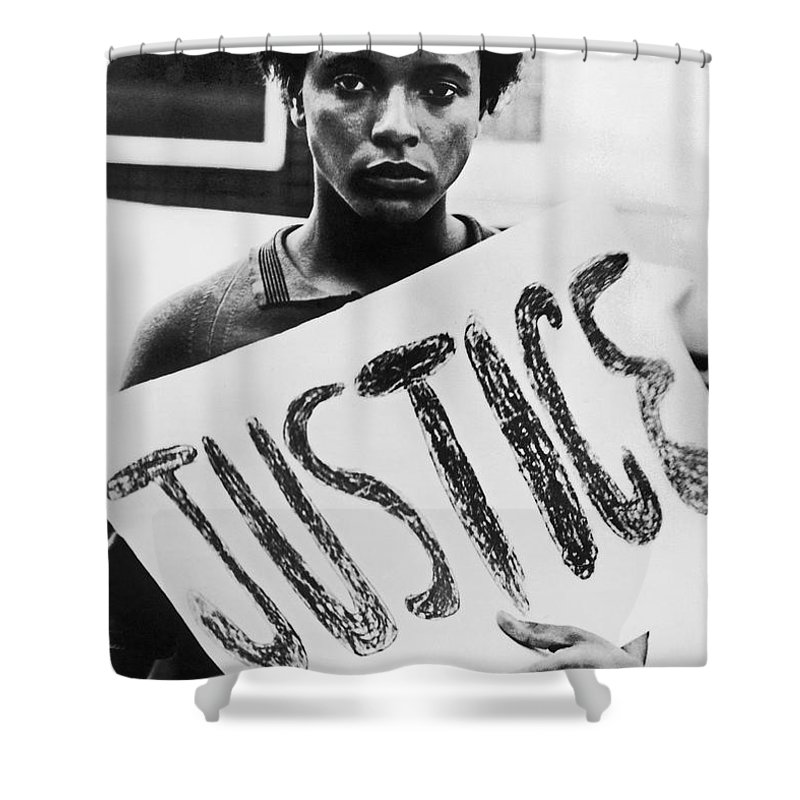 1960s Shower Curtain featuring the photograph Civil Rights, 1961 by Granger