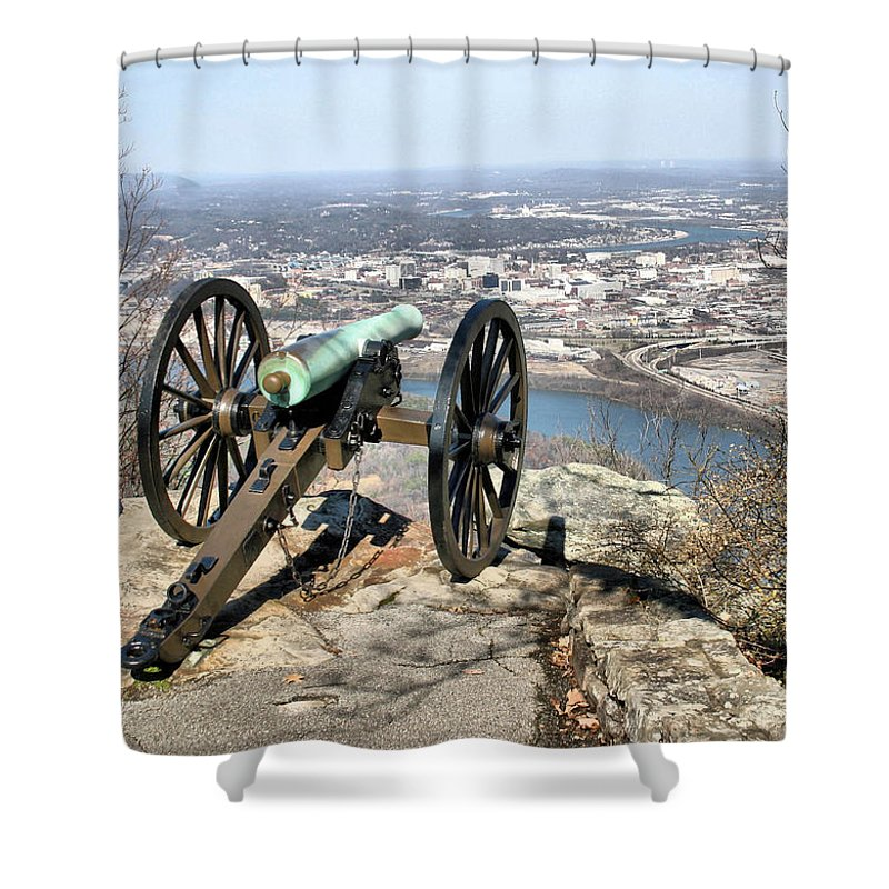 Cannon Shower Curtain featuring the photograph Civil War Cannon by Kristin Elmquist