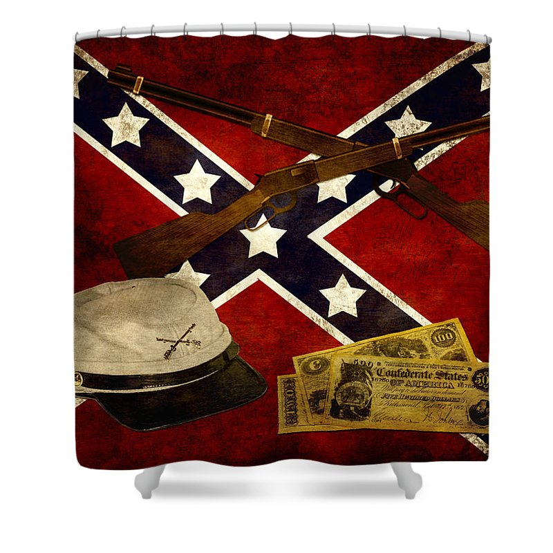 Civil War Shower Curtain featuring the photograph Civil War Memories by TnBackroadsPhotos